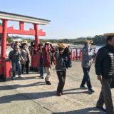 釜蓋神社で体験(れいめい羽島協議会)